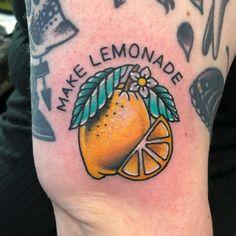 Make Lemonade Tattoo Sleeve Tattoos, Xoil Tattoos, Forearm Tattoos, Tattoo Ink, Tatoos, Pretty Tattoos, Beautiful Tattoos, Taco Tattoos, Enough Tattoo