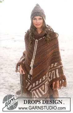 Ravelry: 79-1 a - Poncho in Highlander pattern by DROPS design free pattern