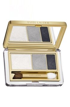 Beauty Fave: What do you think about these gorgeous shadows? Metallic! AMAZING array of colors. I love all of them. I'm going to order and can't decide which to try first. This is Estée Lauder 'Instant Intense' Eyeshadow. It's available at Nordstrom.