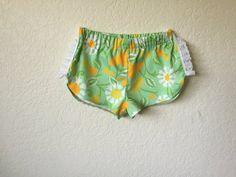 girls-mint-green-new-vintage-flower shorts