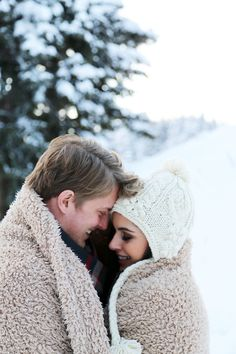 winter engagement picture. Adorable