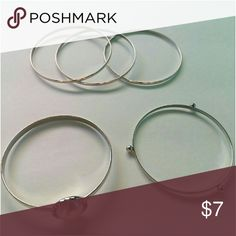 Set of 5 Bangle's NWOT. Set of 5 silver and pearl bangle bracelets. Never been used.  *Fashion Jewelry -Bundle to save on shipping cost Jewelry Bracelets