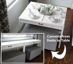 DIY Convertible Desk to Table