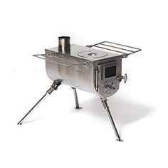 Winnerwell Woodlander Medium Tent Stove is a portable stainless steel wood burning camping stove for cooking and heating, suitable for cold weather camping tents. Tent Stove, Camping Stove, Tent Camping, Camping Gear, Camping Survival, Camping Equipment, Stove Guard, Stove Accessories, California Beach Camping