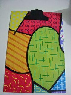 Made by Samy: DIY: prancheta encapada com papel contact   Olá me...