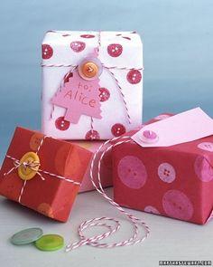 Button Wrap by Martha Stewart
