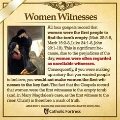 It also shows how Jesus regarded women as equal to men. Yes Jesus had 12 men as his apostles. But Jesus showed himself to women first because he wanted to show just how important women are.