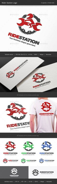 Rider Station Garage Logo — Vector EPS #brand #motorcycle • Available here → https://graphicriver.net/item/rider-station-garage-logo/10739545?ref=pxcr