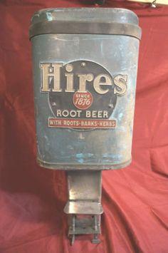 Old Vintage Hires Root Beer Counter Top Soda Fountain Dispenser 1950's Aqua Blue | eBay
