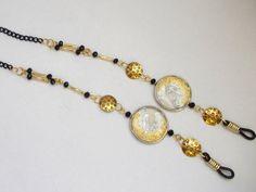 Eyeglass chain, Sunglasses chain necklace, Reading glasses chain, Dark gold chain glasses