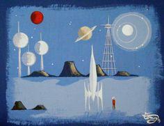 mid century modern tiki paints - Google Search