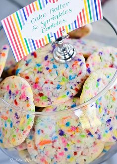 these cake mix and sprinkles cookies are so colorful and delicious