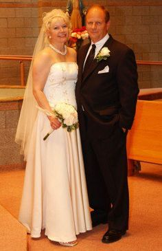 Image result for fifty year old bride and groom
