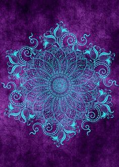 Mandala - Grape - Anna PLOCIENNIK - Mandala - Grape By Alexandre Ibáñez I love the colors of this piece, and the flowing lines on the outside of the mandala. Mandala Wallpaper, Mandala Artwork, Mandala Drawing, Mandala Painting, Dot Painting, Wallpaper Backgrounds, Mandala Print, Arte Ganesha, Galaxy Painting