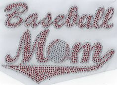 Baseball Mom Rhinestone Iron on Hot Fix Motif Applique heat Press Patch Sports  #Unbranded