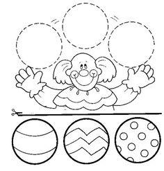 Printable worksheets for kids Geometric Shapes 17 Preschool Circus, Circus Activities, Fine Motor Activities For Kids, Printable Activities For Kids, Clown Crafts, Circus Crafts, Carnival Crafts, Shapes Worksheets, School Worksheets