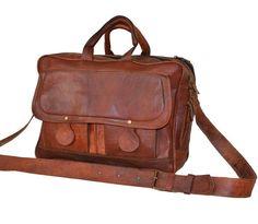 Men s Genuine Vintage Leather Messenger Laptop Briefcase Satchel Man Bag  Brown  Casadecuero  MessengerShoulderBag Laptop 39f63e7592e73