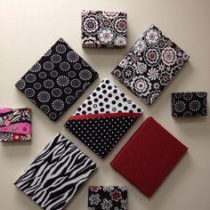 Fabric covered cardboard lids