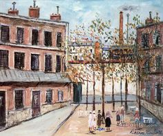 Maurice Utrillo Nursing Home Near Paris oil painting reproductions for sale