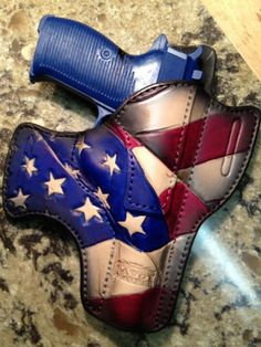 Savoy Leather - American Patriot Open Carry- That's a cool holster! Concealed Carry Holsters, Gun Holster, Leather Holster, Custom Holsters, Open Carry, Self Defense Weapons, Custom Guns, Military Guns, Cool Guns