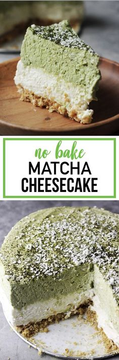 Japanese Diet - If you like creamy, light and indulgent cheesecake, look no more! This No Bake Matcha Cheesecake will satisfy anyone's sweet tooth! Discover the World's First & Only Carb Cycling Diet That INSTANTLY Flips ON Your Body's Fat-Burning Switch How To Make Cheesecake, Cheesecake Recipes, Dessert Recipes, Asian Desserts, Just Desserts, Delicious Desserts, Alcoholic Desserts, Keto Desserts, Plated Desserts