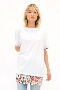 BASQUIAT 8B Unisex T-Shirt in White. Eleven Paris x BASQUIAT Collection. Shipping to North America, USA, Canada and Mexico.