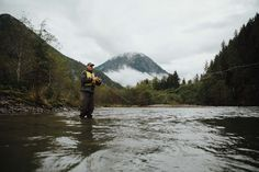 GOOD TIMES JOURNAL //  waist deep in the waters of the Gitnadoiks- one of the many smaller tributaries to the Skeena River BC