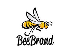 Bee Logo design - The main logo is inspired by a Bee, have been deliberate designed in such a way with artistic and personal touch from the designer to get a unique and modern logo which could be used as a mascot or pictorial mark. Easy to used and still recognizable although in black and white version.Available to customize your brandname.Grab it fast!! Price $300.00