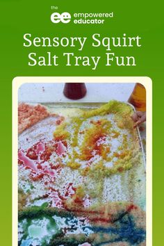 I love finding ways to help toddlers explore and get messy through sensory play and this salt tray squirt activity quickly became a favourite! Try this sensory tray idea that'll keep your toddlers and preschoolers engaged! | The Empowered Educator Sensory Activities Toddlers, Sensory Play, Toddler Preschool, Family Day Care, Small Tray, Salt, Messy Play, Play Ideas, Education
