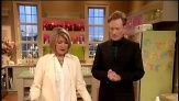 Conan O'Brien joins Martha Stewart to learn how to create beautiful and simple glitter designs on Easter eggs.