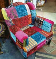 Ishka patchwork chair. Gorgeous :)
