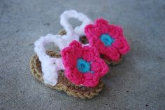 The cutest little crocheted sandals!