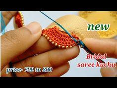 Saree Tassels Designs, Saree Kuchu Designs, Mehndi Art Designs, Blouse Designs, Crochet Borders, Crochet Patterns, Churidhar Neck Designs, Maggam Work Designs, Simple Sarees
