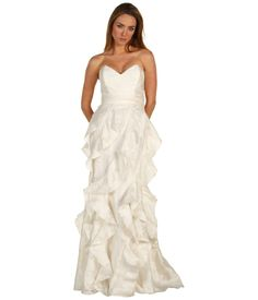 NWT - Badgley Mischka Bridal Gown Ivory Full Length Dress in Size 12 Special Dresses, Formal Dresses For Women, Bridal Gowns, Wedding Gowns, Fabulous Dresses, Badgley Mischka, One Shoulder Wedding Dress, Glamour, Ivory