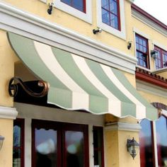 AWNTECH 8 ft. Charleston Window Awning (24 in. H x 12 in. D) in Sage/Linen/Cream Stripe-CH21-8SLCR at The Home Depot