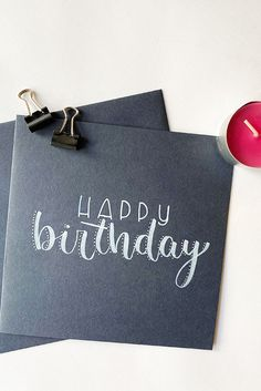 30th Birthday Cards, Happy Birthday Celebration, Bday Cards, Diy Birthday, Diy Cards Crafts, Diy Postcard, Creative Birthday Gifts, Hand Lettering Quotes, Birthday Design