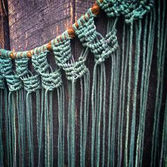 Dyed Ombre Macrame