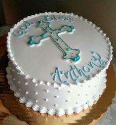 God bless cake Christening Cake Boy, Baptism Cakes, Confirmation Cakes, Baptism Party, Baptism Ideas, Boy Baptism, Boys First Communion Cakes, Boy Communion Cake, First Communion Decorations