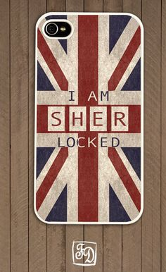 Iphone 4 case SHERLOCK Holmes SHERlocked Union by FeerieDoll (sherlock,bbc,iphone,case,union jack,union flag,british flag,awesome)