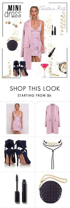 """*Holiday Chic: Mini Dress Contest* - Set#5"" by sassy-elisa ❤ liked on Polyvore featuring Boohoo, Aquazzura, Charlotte Russe, Chanel, Pink Martini, Black, NARS Cosmetics and minidress"