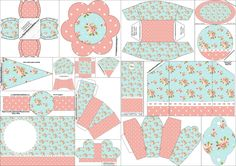 S weet 16 Free Printable Kit with a Cute Shabby Chic Design in Pink and Light Blue. Perfect for party themes like Shabby Chic. Shabby Chic Candy Bar, Shabby Chic Paper, Printable Box, Free Printables, Rosa Shabby Chic, Oh My Fiesta, Paper Crafts, Diy And Crafts, Party Kit