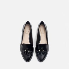 Image 3 of FLAT SHOES WITH TASSELS from Zara