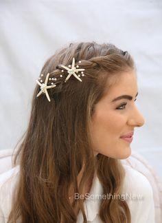 Seestern Hair Pins Strand Hochzeit Seesterne und von BeSomethingNew
