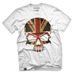 UK Grunge Flag Skull Vintage Men's T Shirt