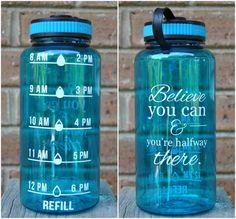 32 oz BPA Free Water intake tracker, Water schedule bottle, Motivational water bottle, Water bottle with tim, water intake bottle
