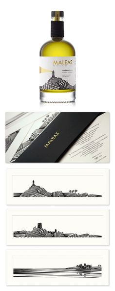 """""""Maleas Olive Oil"""" by Red Creative #packaging #design #bottle"""