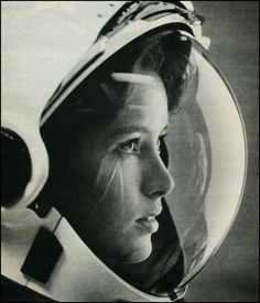 Anna Fisher was astronaut and chemist, and the first mother in space. This is a great photograph of her.