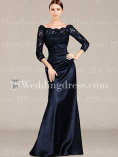 Spring Mother of the Bride Dresses_Navy