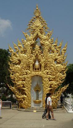 At Wat Rong Khun - The White Temple of Chiang Rai, Thailand