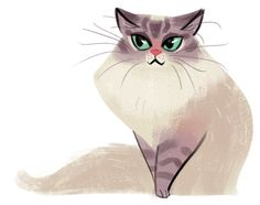 Green Eyes by daily cat drawings ~ More on #cats - Get Ozzi Cat Magazine here >> http://OzziCat.com.au